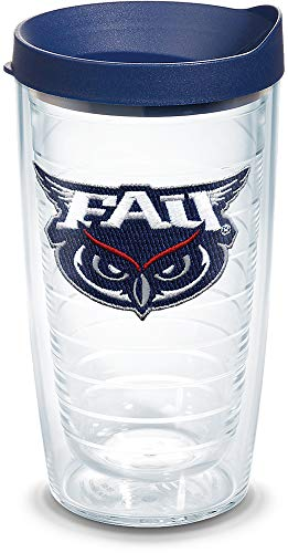 Tervis 1084947 FAU Owls Logo Tumbler with Emblem and Navy Lid 16oz, Clear ()