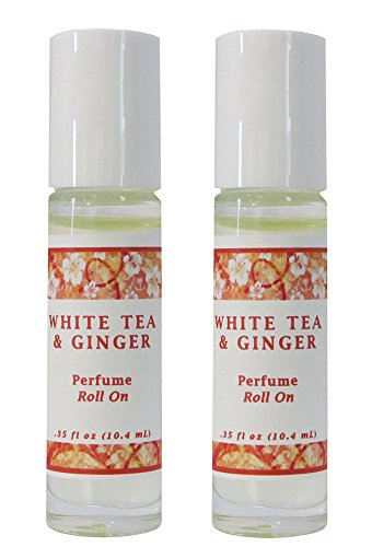 Parfum Free Ship - White Tea & Ginger Perfume Oil - Set of 2 (THIS ITEM SHIPS FREE ! PROMOTION APPLIED DURING CHECK OUT)