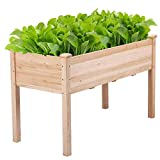 Yaheetech Wooden Raised/Elevated Garden Bed Planter Box Kit for Vegetable/Flower/Herb Outdoor Gardening Natural Wood, 48.8 x 23 x 29.9in