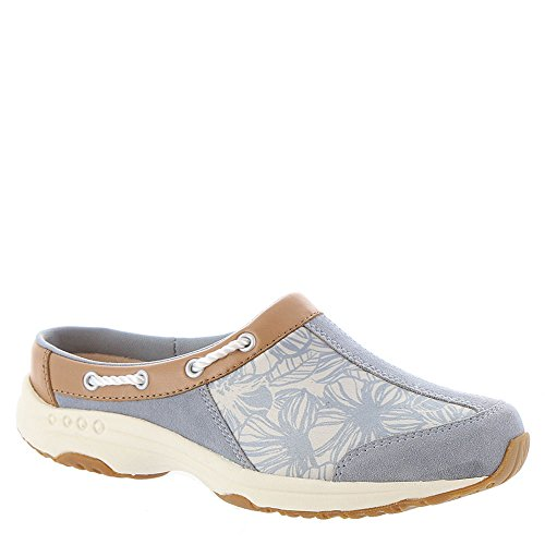 Easy Spirit Women's Travelport Mule Light Blue-tan-floral