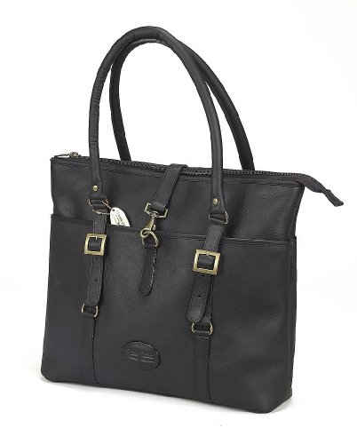 Claire Chase Ladie's Vaqueta Leather Lptop Tote Bag (Cafe) by ClaireChase