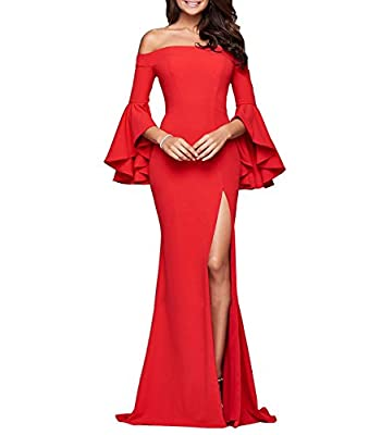Kiss Rain Women's Mermaid Evening Dress for Women Formal Long Prom Dress
