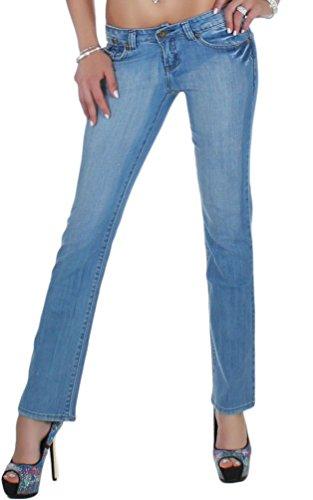 Black Denim - Vestido - recto - para mujer Azul
