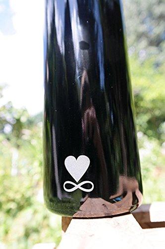 1 l Botella, Miron Cristal/Ultraviolett Cristal con la flor de la Vida: Amazon.es: Hogar