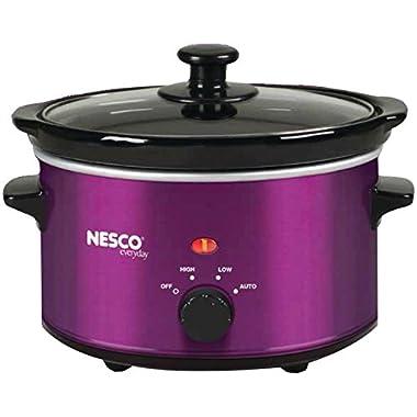 Nesco SC-150V Oval Slow Cooker, 1.5-Quart, Violet