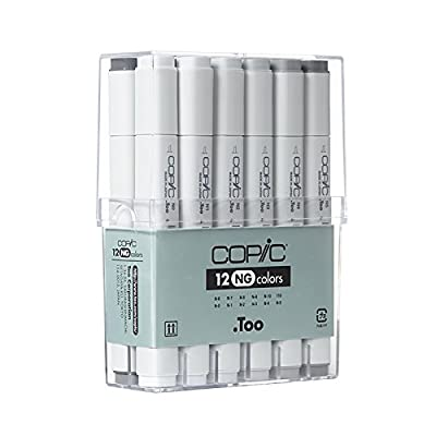 Copic Marker CNG12 12-Piece Neutral Gray Set