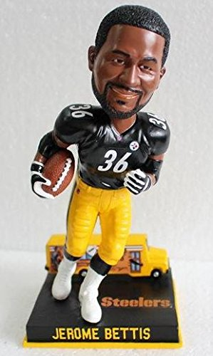 NFL Pittsburgh Steelers Jerome Bettis Bus Base-Bobblehead, 8'' by Forever Collectibles