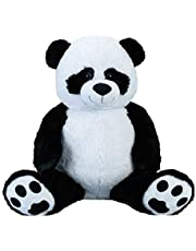 Reuzenpanda beer knuffelbeer XXL 100 cm groot pluche beer knuffel panda fluweelzacht - om van te houden