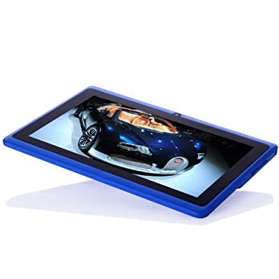 Dragon Touch174; 7'' inch Blue Dual Core Y88 Google Android 4.3 Tablet PC, Dual Camera, HD 1024x600, Google Play Pre-load, HDMI, 3D Game Supported (enhanced version of A13) [By TabletExpress]
