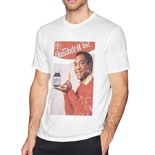 Men's Short Sleeve Custom Bill Cosby Quaalude Date Rape Xanax MDMA LSD Salvia Logo White 5XL ()