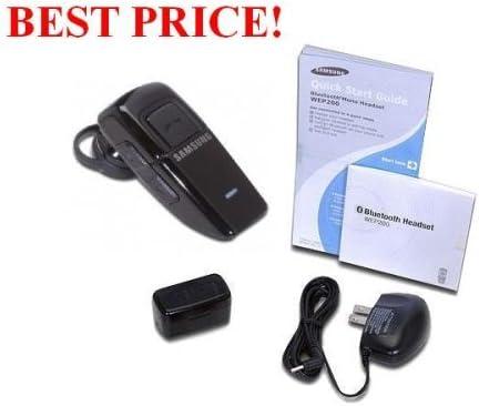 Amazon Com New Samsung Black Wep200 Authentic Oem Original Bluetooth Headset Wep 200 Bulk Packaged