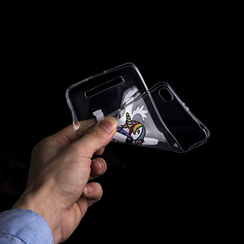 Funda Xiaomi Redmi 4A Gato Suave Transparente TPU Silicona Anti-rasguños Protector Trasero Carcasa Para Xiaomi Redmi 4A con Un Protector de Cristal Templado Film SWAG