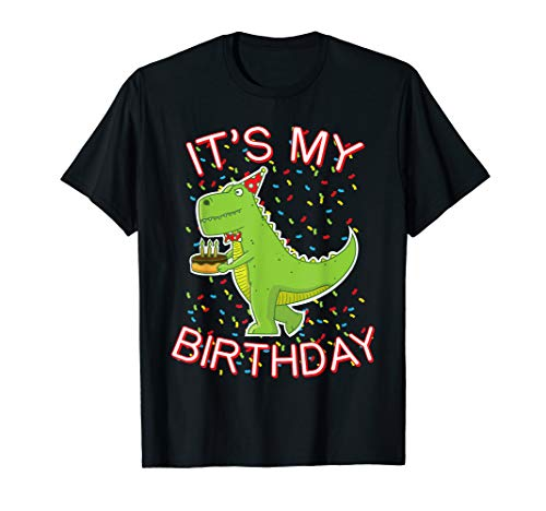 Dinosaur Cakes Ideas - Trex Dinosaur with Cake and Party