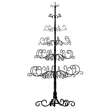 "Patch Magic 10' Wrought Iron Black X-mas Tree with 6 Levels, 52"" x 52"" x 120"""