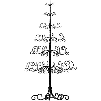 patch magic 10 wrought iron black x mas tree with 6 levels 52 - Iron Christmas Tree