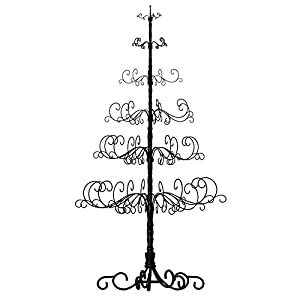patch magic 10 wrought iron black x mas tree with 6 levels 52 x 52 x 120 - Iron Christmas Tree