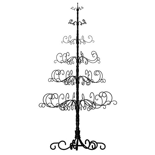 Patch Magic 10' Wrought Iron Black X-mas Tree with 6 Levels, 52'' x 52'' x 120'' by Patch Magic