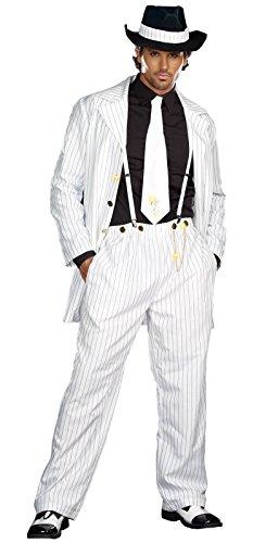 Dreamgirl Men's Zoot Suit Riot Costume, White/Black, Medium - Zoot Suit Costumes