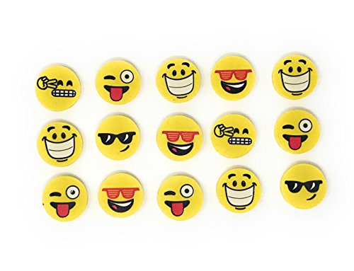 Cute Halloween Treats For School (144 Bulk Happy Emoji Eraser Assortment)
