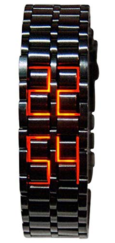 Unisex Square Large Face LED Digital Watch Electronic for Men Watch for Women Student Silicone Watches (Bracelet Watch) ()