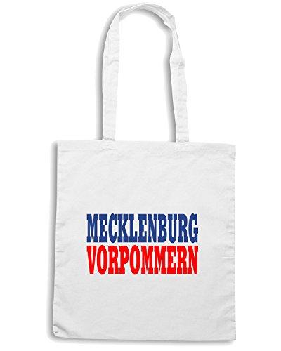 T-Shirtshock - Bolsa para la compra WC0847 MECKLENBURG VORPOMMERN GERMANY LAND CITY Blanco