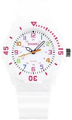 Children Waterproof Jelly Sports Quartz Watch White
