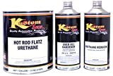 Hot Rod Black - Fast Reducer, Hot Rod Flatz by Custom Shop Urethane Automotive Flat Matte Car Paint, 1 Gallon Kit
