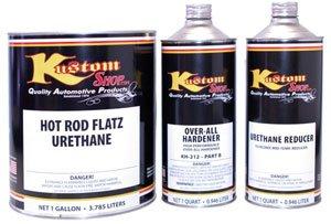 Hot Rod Black - Medium Reducer, Hot Rod Flatz by Custom Shop Urethane Automotive Flat Matte Car Paint, 1 Gallon Kit - Hot Rod Flatz Wheel