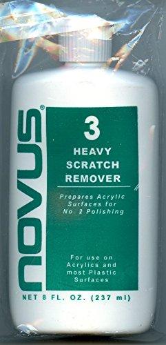 Alpha Abrasives Novus Plastic Polish #3 Heavy Scratch Remover 8oz Bottle - Scratch Plastic Remover And Polish