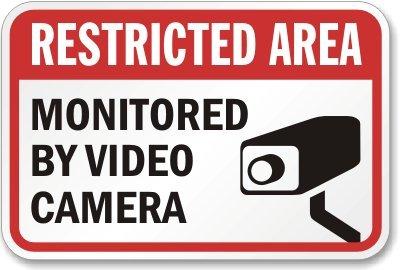 Amazon.com: Restricted Area supervisadas por cámara de vídeo ...