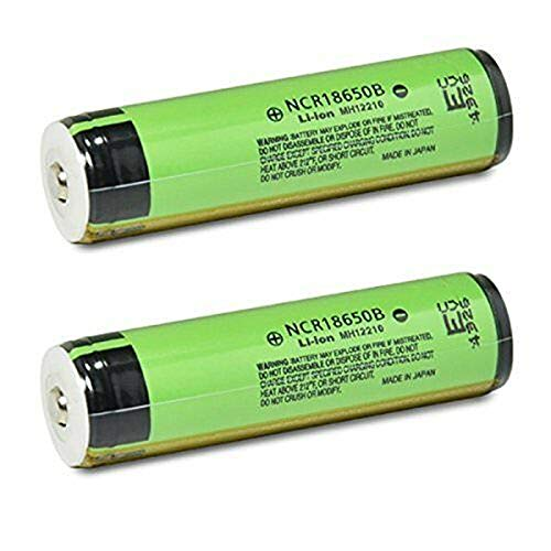 2 Shoppinghere NCR18650B 3400mAh 3.7v Protected Button Top Batteries