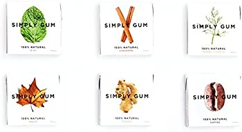 Simply Gum Assorted Natural Chewing Gum 90 Pieces