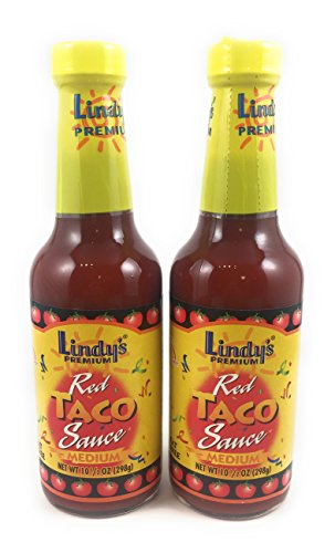 Lindy's Premium Red Taco Sauce Medium, 10.5 oz. (Pack of 2)