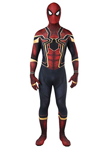 Homecoming Costume Lycra Iron Man Zentai Suit Superhero Cosplay,XL