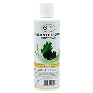 Onics, Neem & Charcoal Body Wash, Skin Brightening and Whitening, Toxin Remover, Skin Oil Controller Shower Gel, Organic…