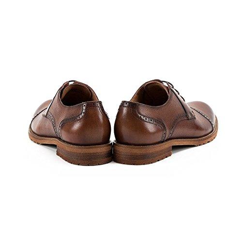 British Hommes en Casual Business Main La NIUWJ Respirant Cuir à Mariage Fait Lacing Brown Chaussures Gentleman qX7TAwxd