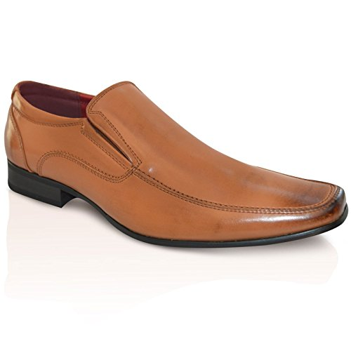 Giovanni Formale Da Uomo Matrimonio Slip On Office Scarpe Eleganti - Marrone, 40 EU