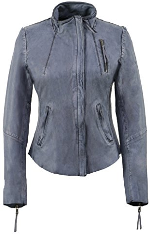Nation 7039 Donna Freaky Sarah Cappotto Blue Blu silver d04Pw4q