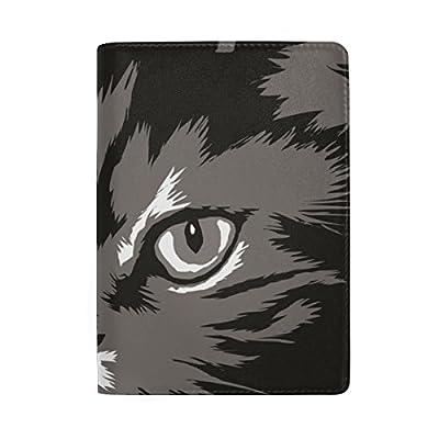 Black Cat Genuine Leather Passport Holder Wallet Case Cover for Men Women  cheap d3a139dda1