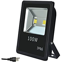 RSN LED Security Flood Light Light 100W COB LED Spotlight 6000K Cool White Color AC85-265V Aluminum Alloy IP65 Waterproof with 120 Degree 2 Years Warranty