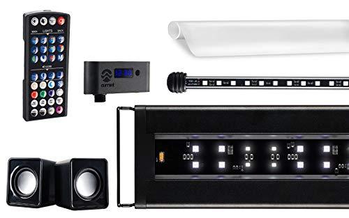 CURRENT USA Serene Aquarium Visual and Audio Aquatic Experience Kit | LED Aquarium Light | LED Background Light | Wireless Remote | Speakers