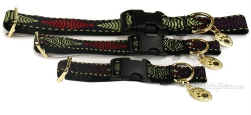 Premier Quick Snap Collars RED GREEN DS, Size: MEDIUM, My Pet Supplies