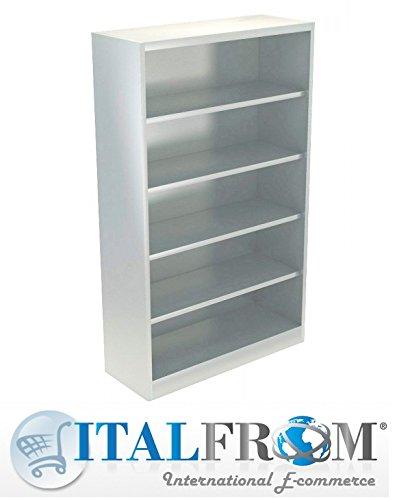ITALFROM Schrank aus Metall für Büro Archiv Metallschränke Schrank metallisch 120x 45x 200A Giorno-consegna 20Days