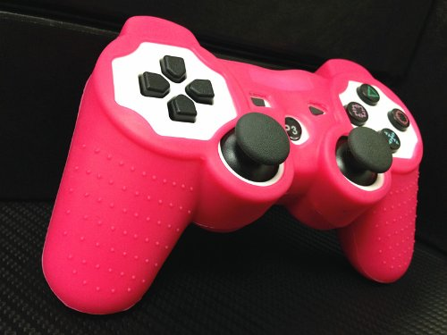 One Piece 1x Brand New High Quality Playstation PS3 Remote Controller Silicon Protective Skin Case Cover -Pink/Hot Pink Color