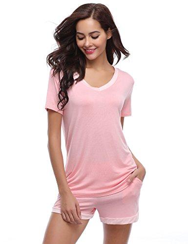 Top mujer de pijama Conjuntos Aibrou algod para de XfOwxP
