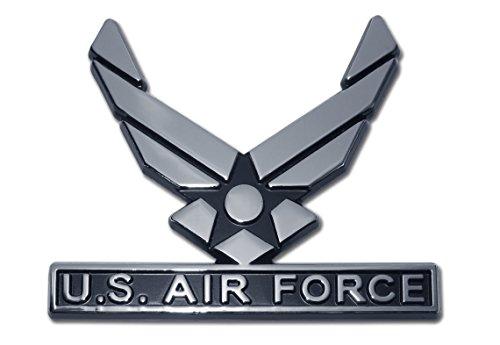 - Elektroplate U.S. Air Force Wings Chrome Auto Emblem