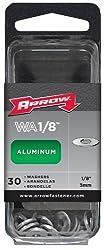 Arrow Fastener Wa18 Aluminum Washers, 18-inch, 30-count