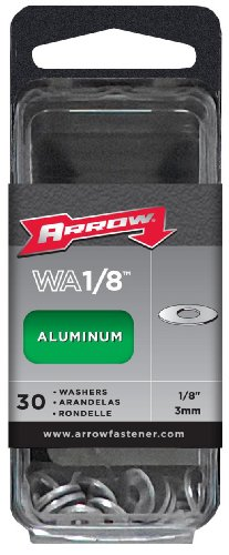 Arrow Fastener WA1/8 Aluminum Washers, 1/8-Inch, 30-Count -