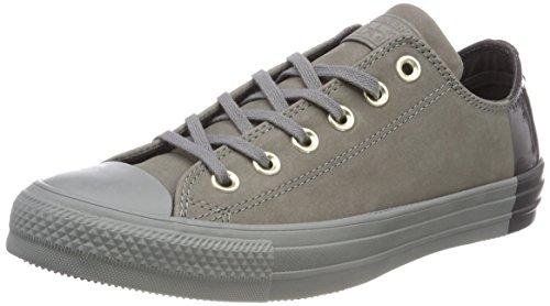 Converse Unisex Kids' Chuck Taylor CTAS Ox Nubuck Fitness Shoes, Grey (Mason/Mason/Storm Wind 048), 3.5 UK