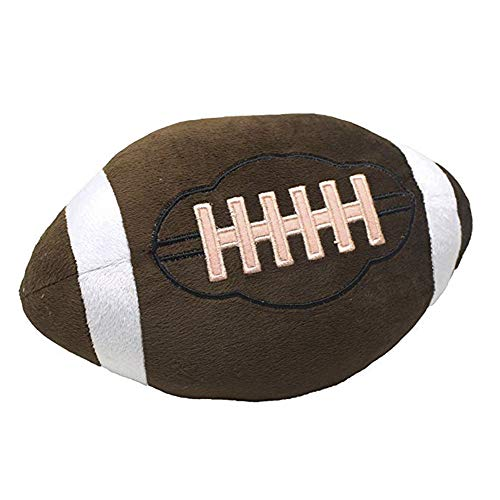 Fellee Football Plush Pillow Fluffy Stuffed Ball Throw Soft Durable Sports Toy Gift for Kids Room Decoration ()
